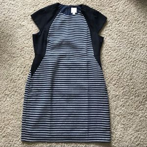 J. Crew Dress Navy/Black Striped Dress
